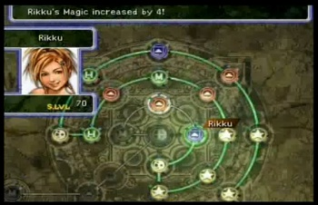 A screenshot of the FFX sphere grid